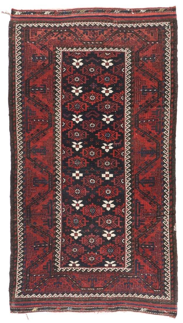 Antique Beluch Rug, Afghanistan: 3'11'' x 6'11'' - 6