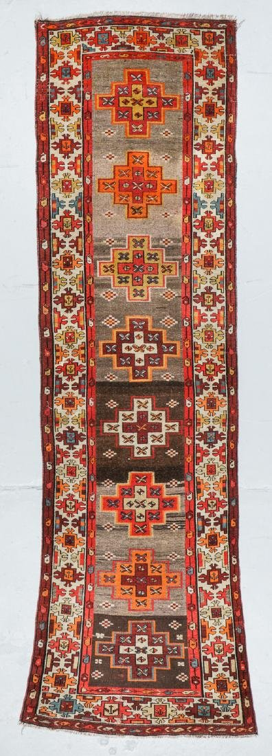 Antique West Persian Kurd Rug, Persia: 3'5'' x 10'5''