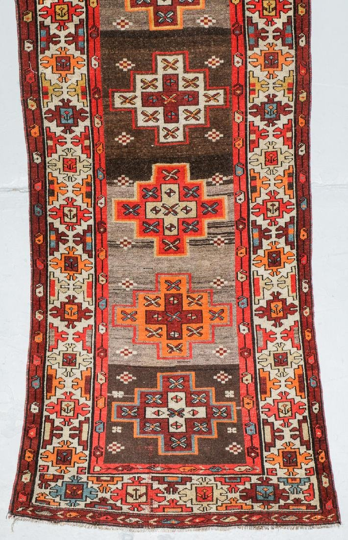 Antique West Persian Kurd Rug, Persia: 3'5'' x 10'5'' - 2