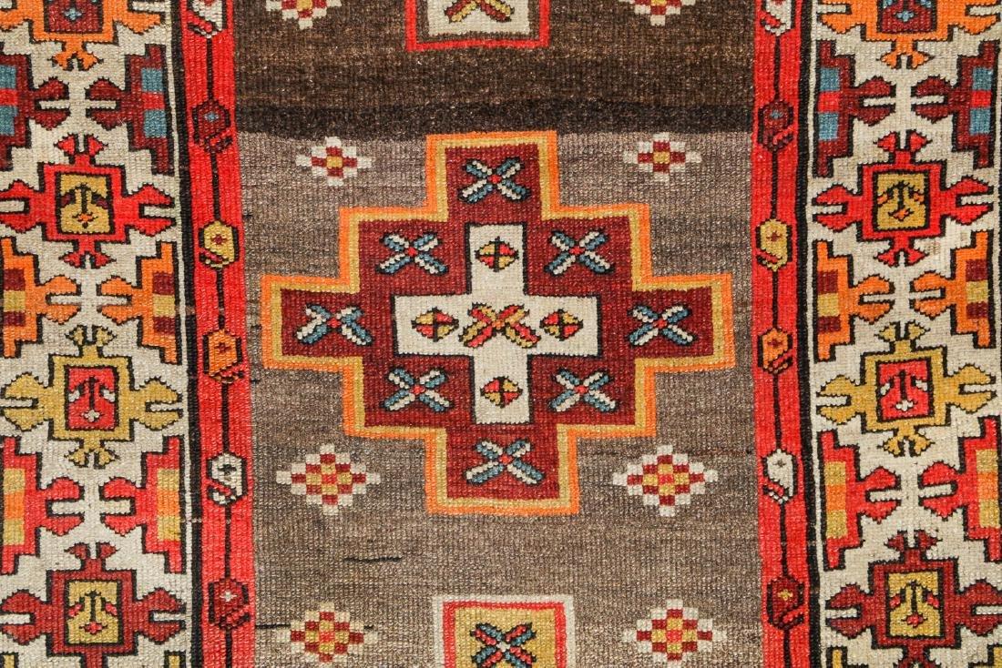 Antique West Persian Kurd Rug, Persia: 3'5'' x 10'5'' - 3