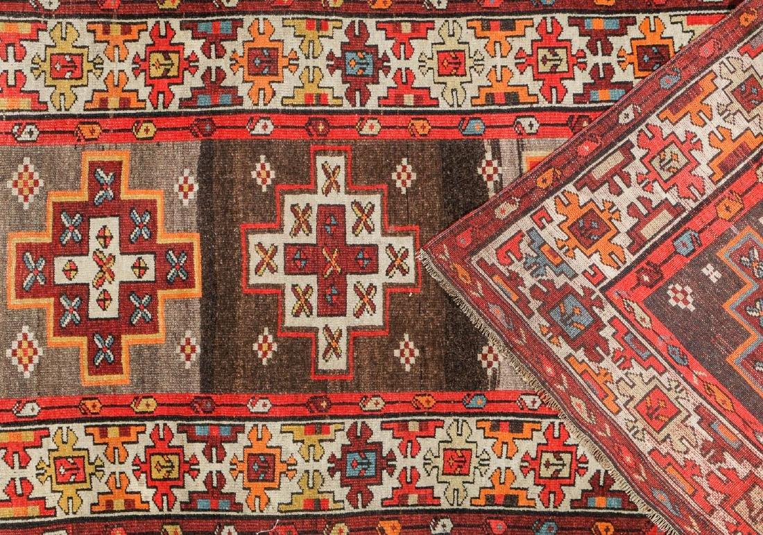 Antique West Persian Kurd Rug, Persia: 3'5'' x 10'5'' - 4