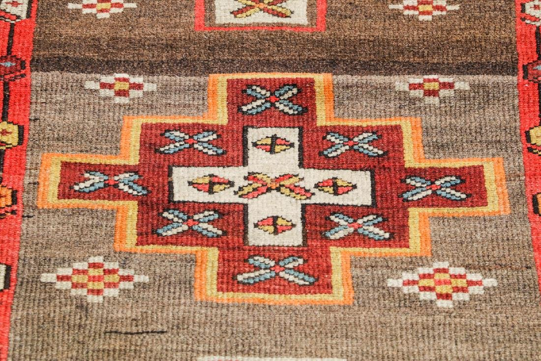 Antique West Persian Kurd Rug, Persia: 3'5'' x 10'5'' - 6