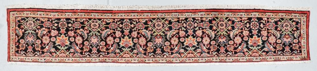 Antique Heriz Wagireh Rug, Persia: 11'6'' x 2'