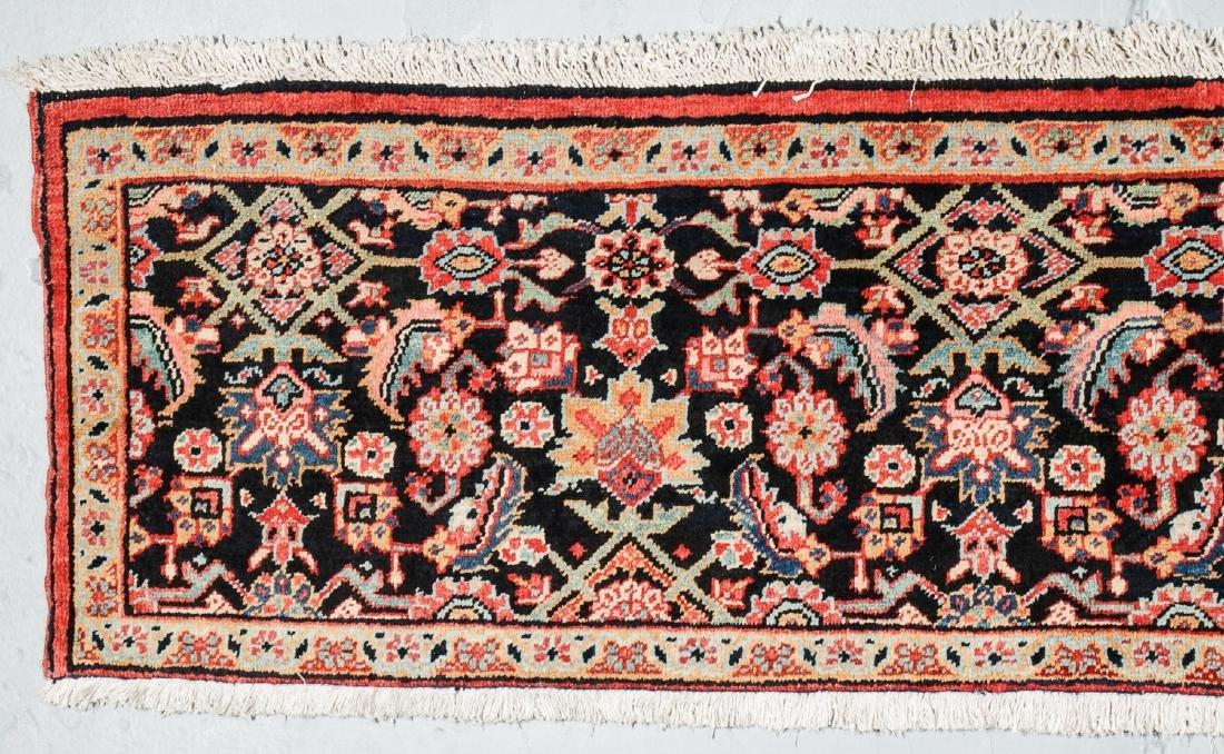 Antique Heriz Wagireh Rug, Persia: 11'6'' x 2' - 2