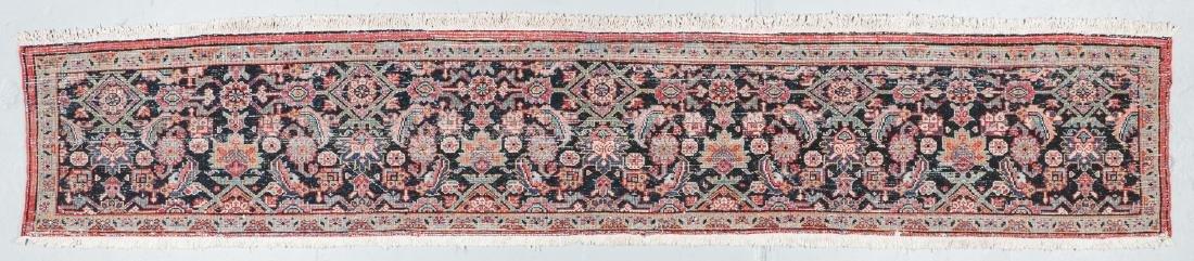 Antique Heriz Wagireh Rug, Persia: 11'6'' x 2' - 6