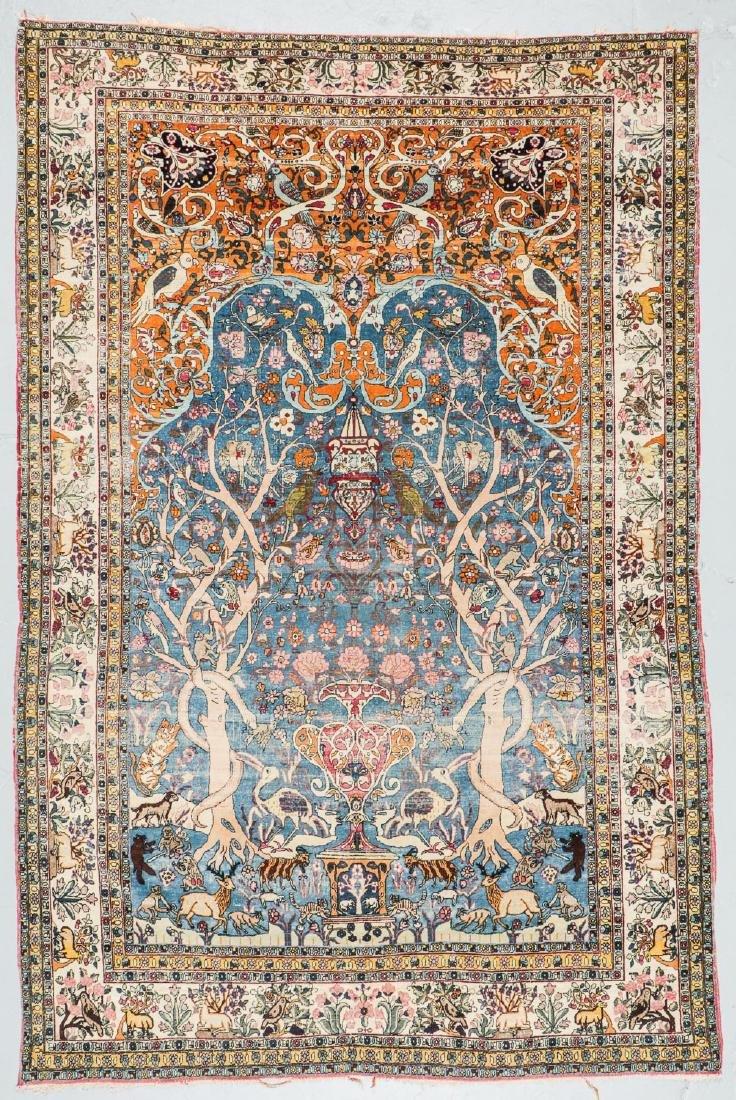 Fine Antique Tehran Rug, Persia: 6'7'' x 10'2''