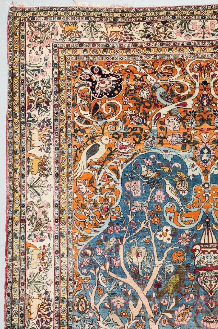 Fine Antique Tehran Rug, Persia: 6'7'' x 10'2'' - 5
