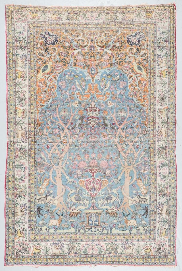Fine Antique Tehran Rug, Persia: 6'7'' x 10'2'' - 9