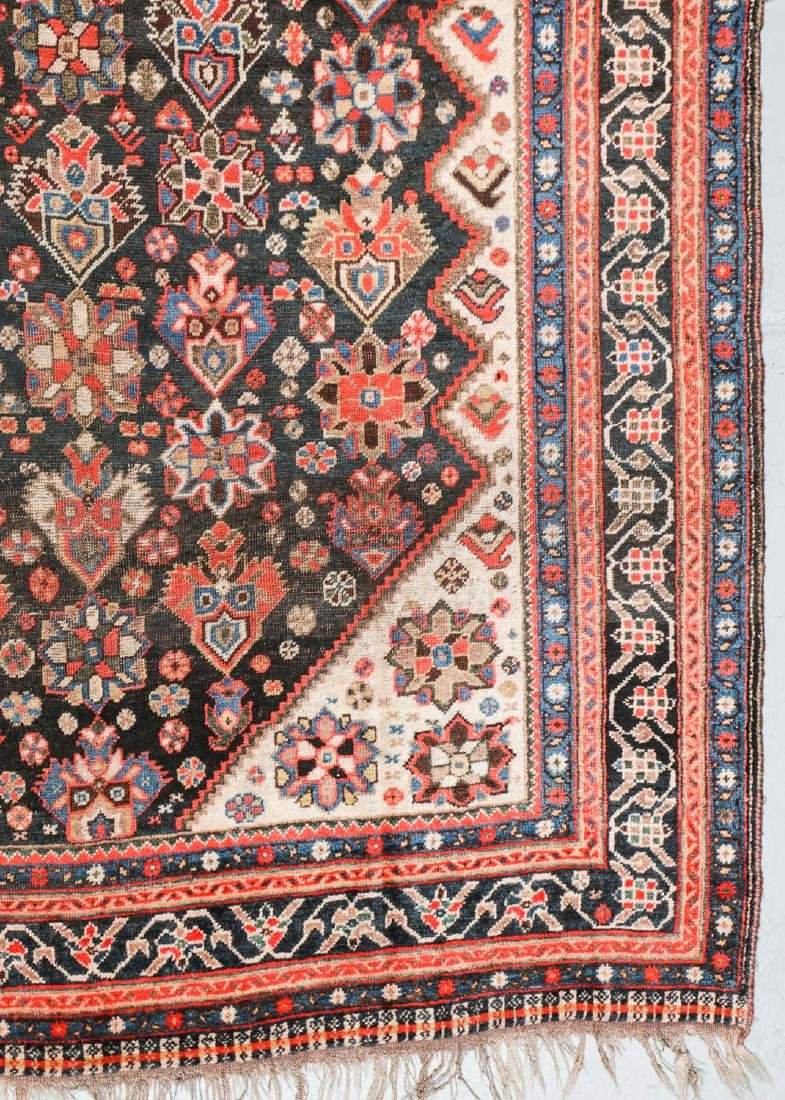 19th C. Gashgai Rug, Persia: 5'8'' x 9'8'' - 2