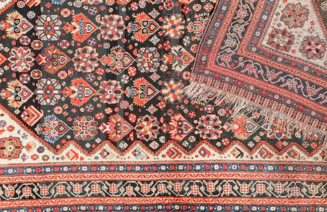 19th C. Gashgai Rug, Persia: 5'8'' x 9'8'' - 4