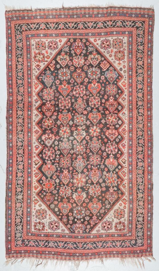 19th C. Gashgai Rug, Persia: 5'8'' x 9'8'' - 7