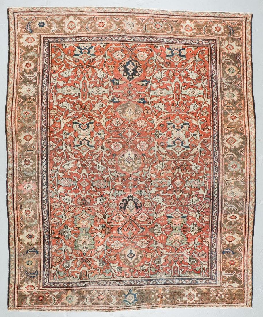 19th C. Mahal Rug, Persia: 9'1'' x 11'