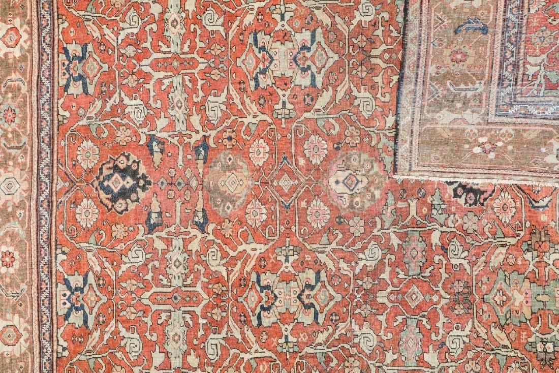 19th C. Mahal Rug, Persia: 9'1'' x 11' - 4