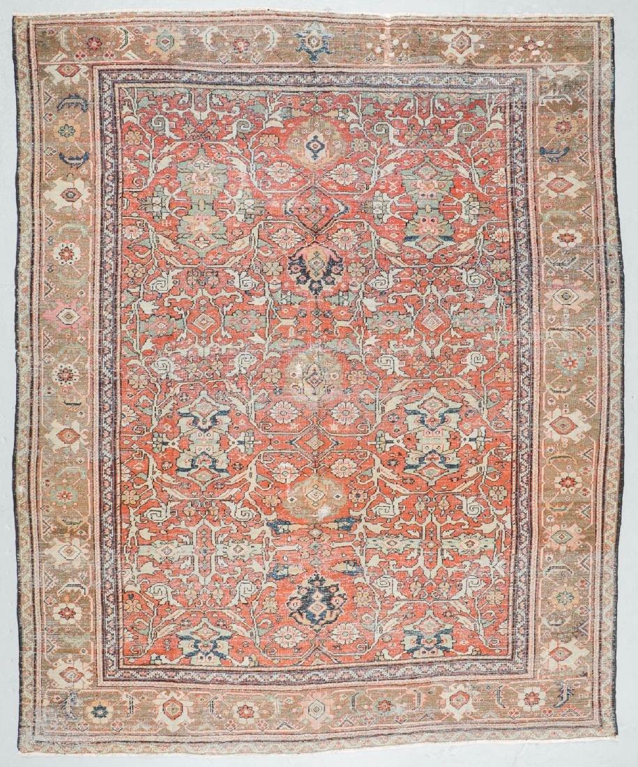 19th C. Mahal Rug, Persia: 9'1'' x 11' - 7
