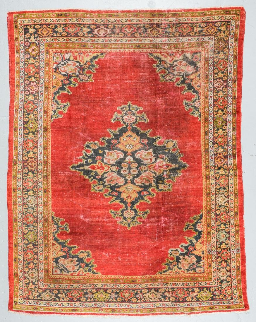19th C. Sultanabad Rug, Persia: 7'9'' x 9'8''