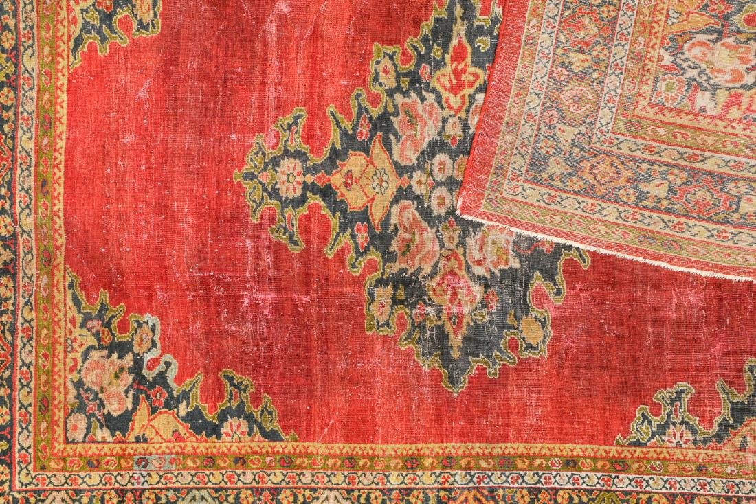 19th C. Sultanabad Rug, Persia: 7'9'' x 9'8'' - 4