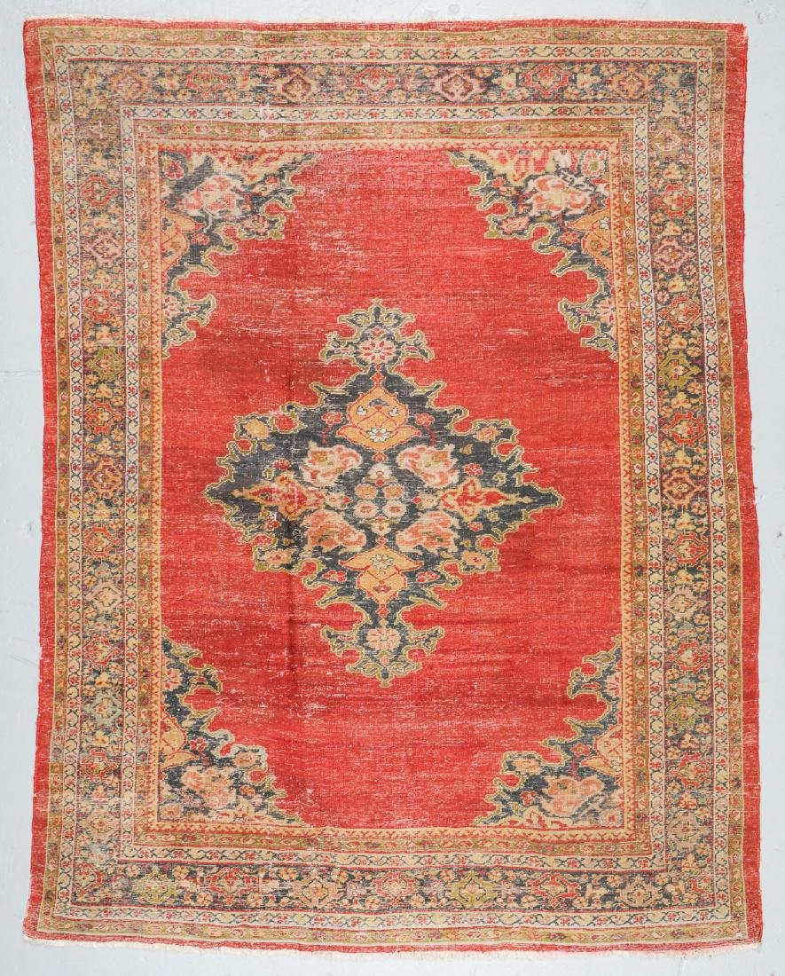 19th C. Sultanabad Rug, Persia: 7'9'' x 9'8'' - 7