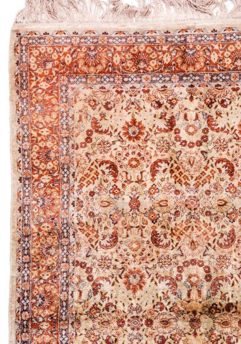 Fine Silk Hereke Style Rug: 3' x 5'2'' - 2