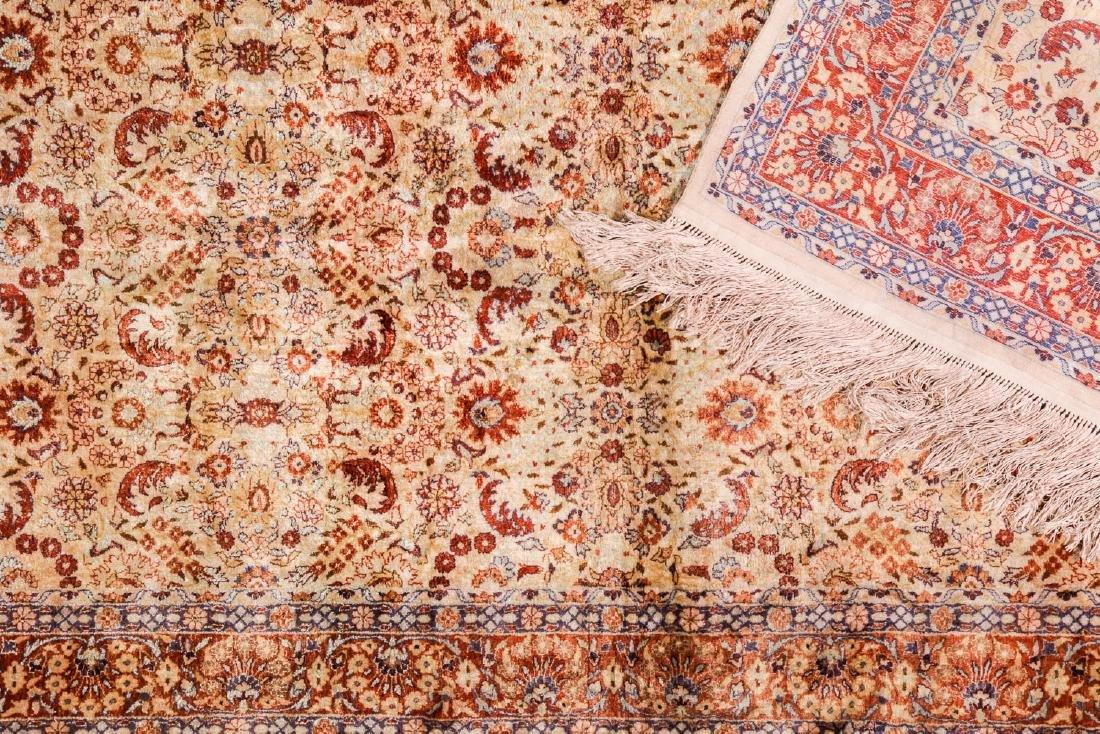 Fine Silk Hereke Style Rug: 3' x 5'2'' - 4