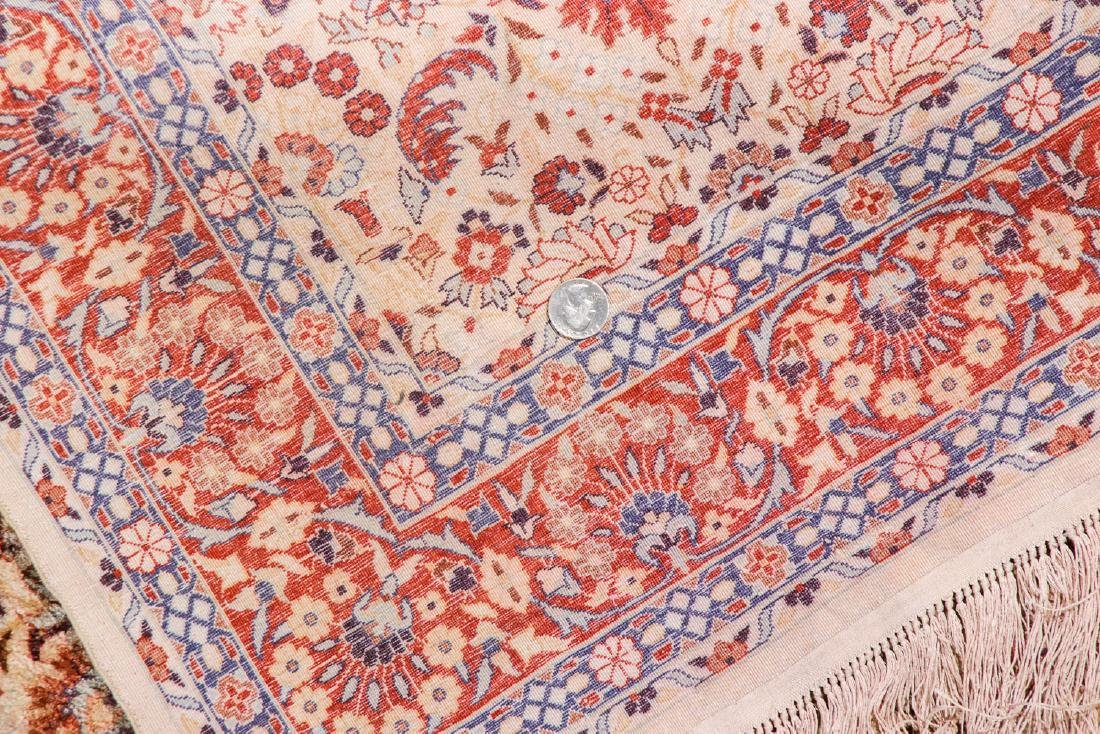Fine Silk Hereke Style Rug: 3' x 5'2'' - 5