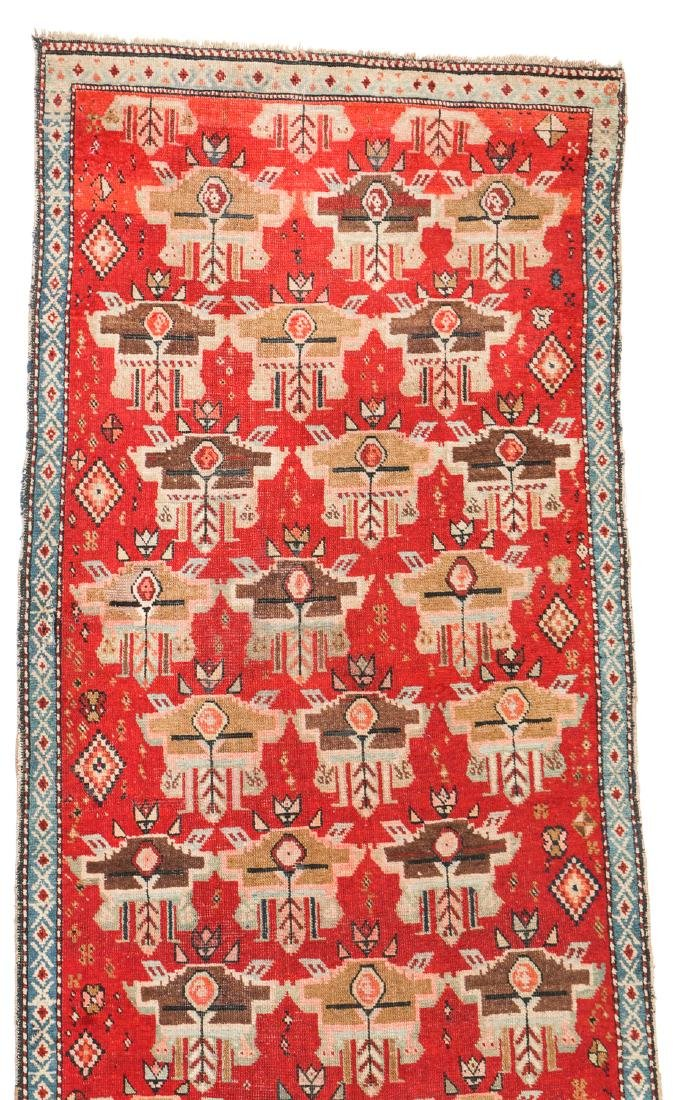 Antique Karabagh Rug, Caucasus: 3'3'' x 8'11'' - 2