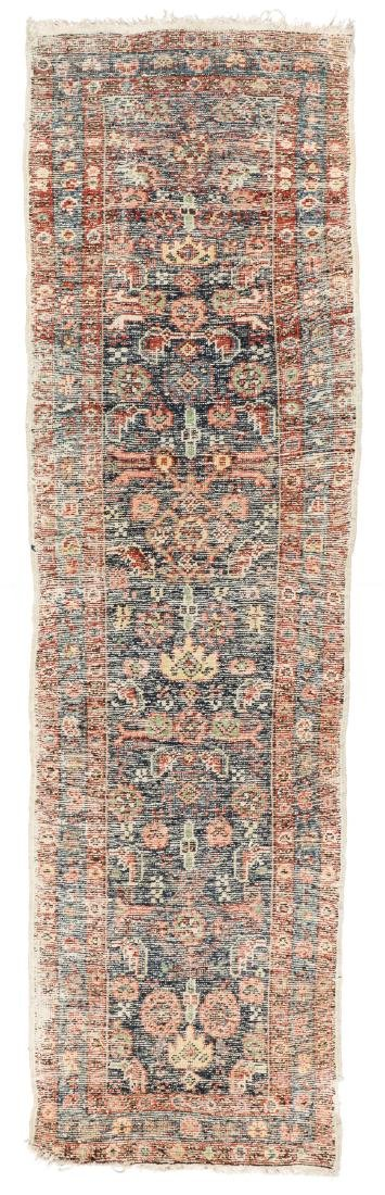 Antique Heriz Rug, Persia: 2'6'' x 8'7'' - 7