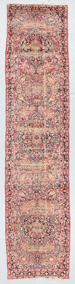 19th C. Lavar Kerman Rug , Persia: 2'9'' x 11'4''