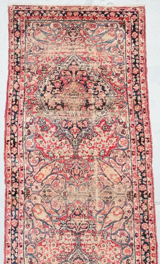 19th C. Lavar Kerman Rug , Persia: 2'9'' x 11'4'' - 2
