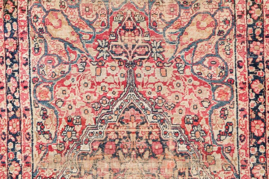 19th C. Lavar Kerman Rug , Persia: 2'9'' x 11'4'' - 3