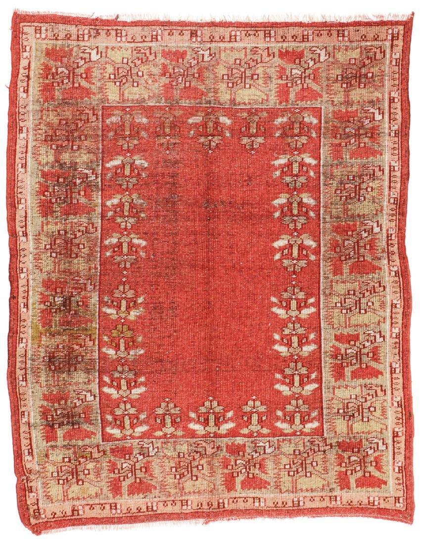 Antique Oushak Rug, Turkey: 5'3'' x 6'8''