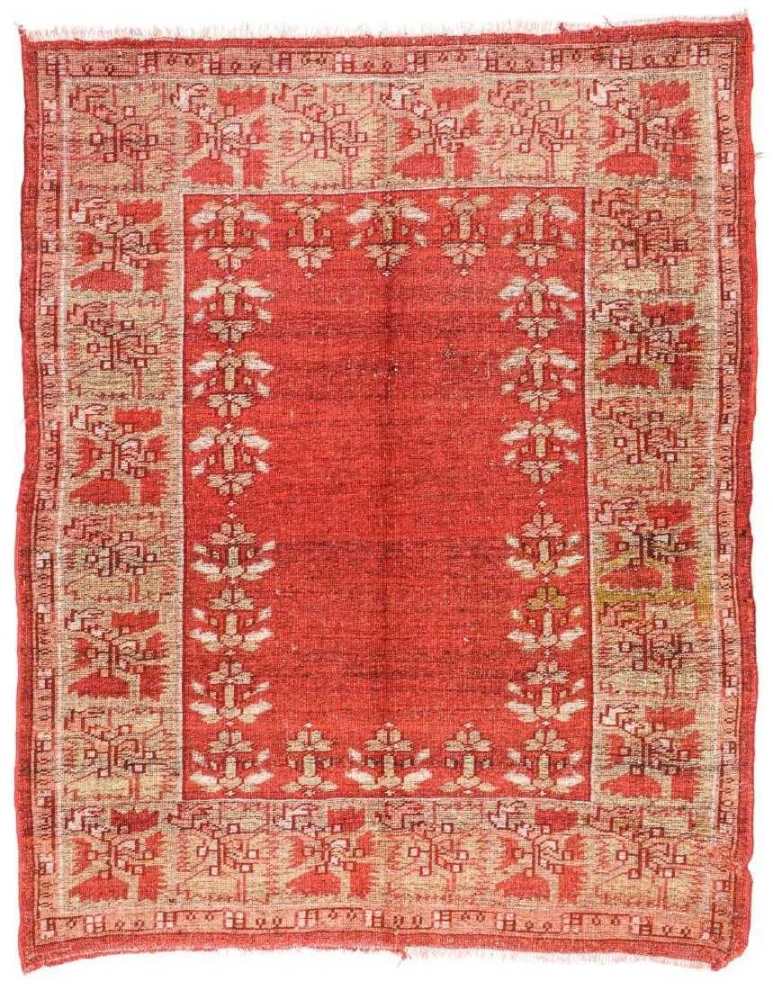 Antique Oushak Rug, Turkey: 5'3'' x 6'8'' - 6