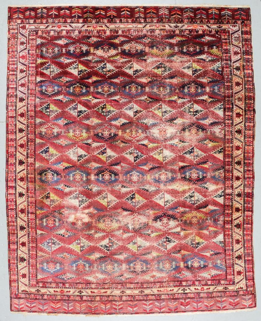 Antique Central Asian Rug: 9'9'' x 12'3''
