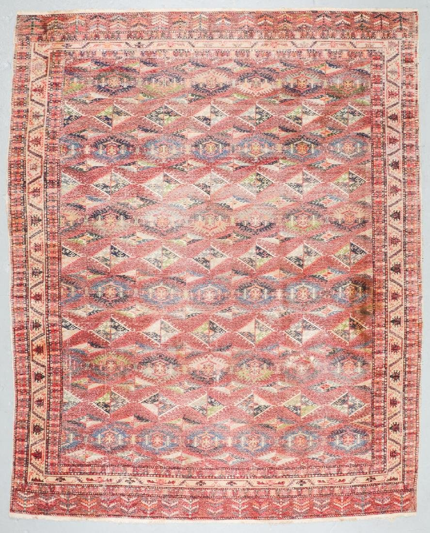 Antique Central Asian Rug: 9'9'' x 12'3'' - 7