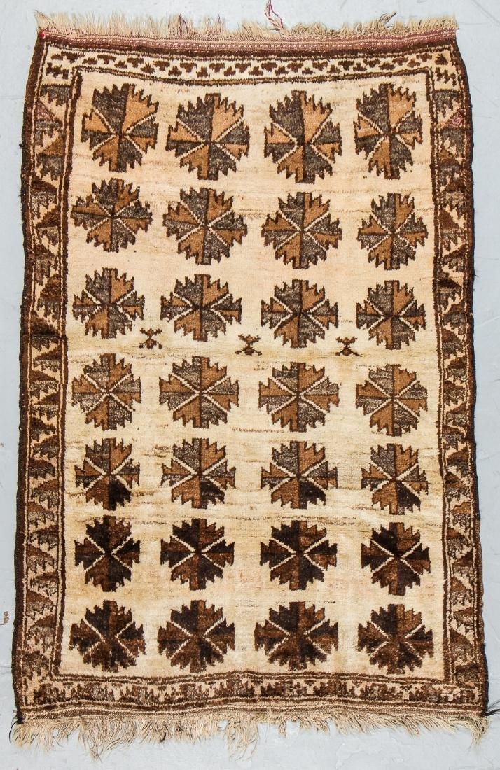 Antique Persian Kurd Rug: 3'9'' x 5'8''