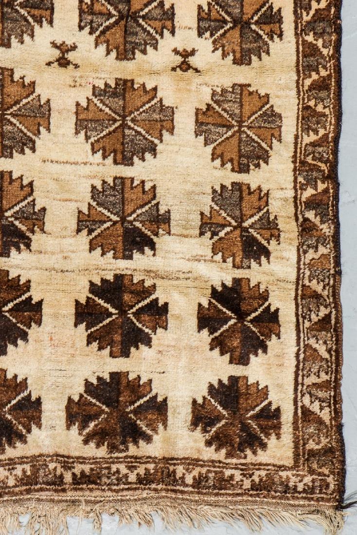 Antique Persian Kurd Rug: 3'9'' x 5'8'' - 3