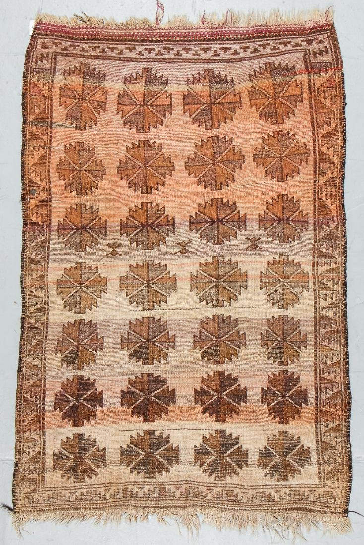 Antique Persian Kurd Rug: 3'9'' x 5'8'' - 7