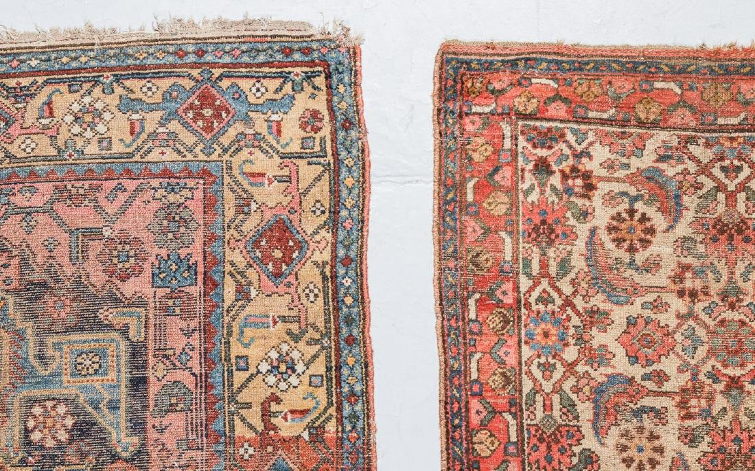 2 Antique Bidjar and West Persian Rugs. Largest Size: - 2
