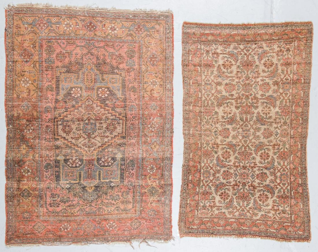 2 Antique Bidjar and West Persian Rugs. Largest Size: - 3