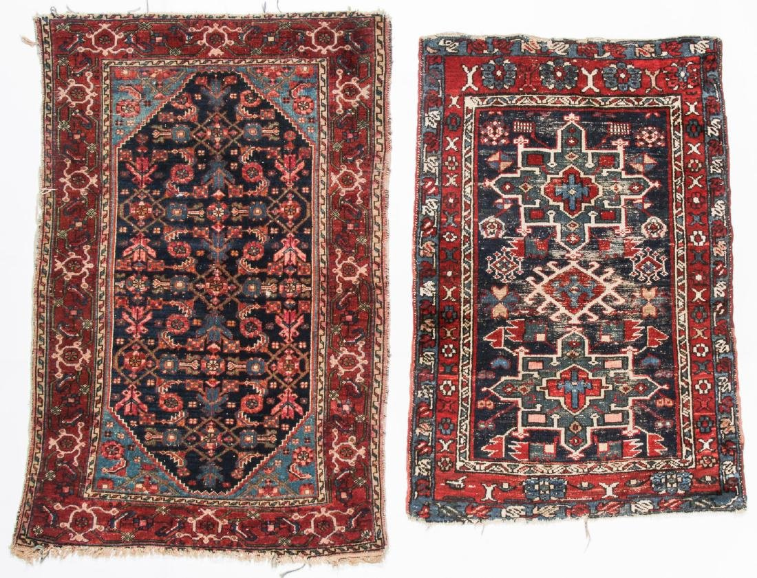 2 Antique Karadja and West Persian Rugs