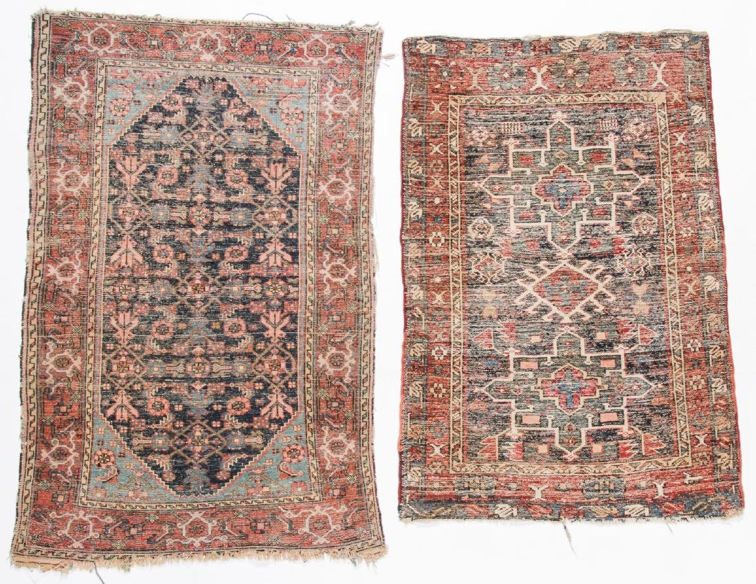 2 Antique Karadja and West Persian Rugs - 4