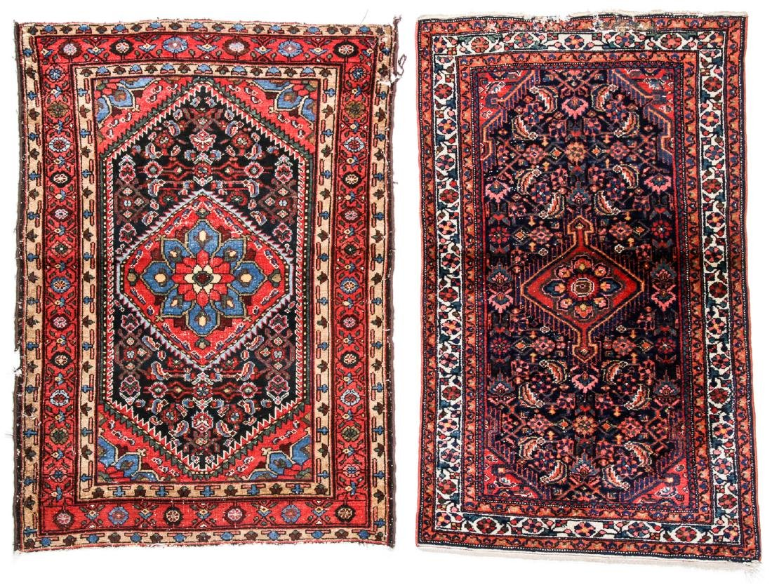 2 Antique West Persian Hamadan Rugs