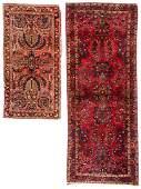 2 Antique Persian Sarouk Rugs