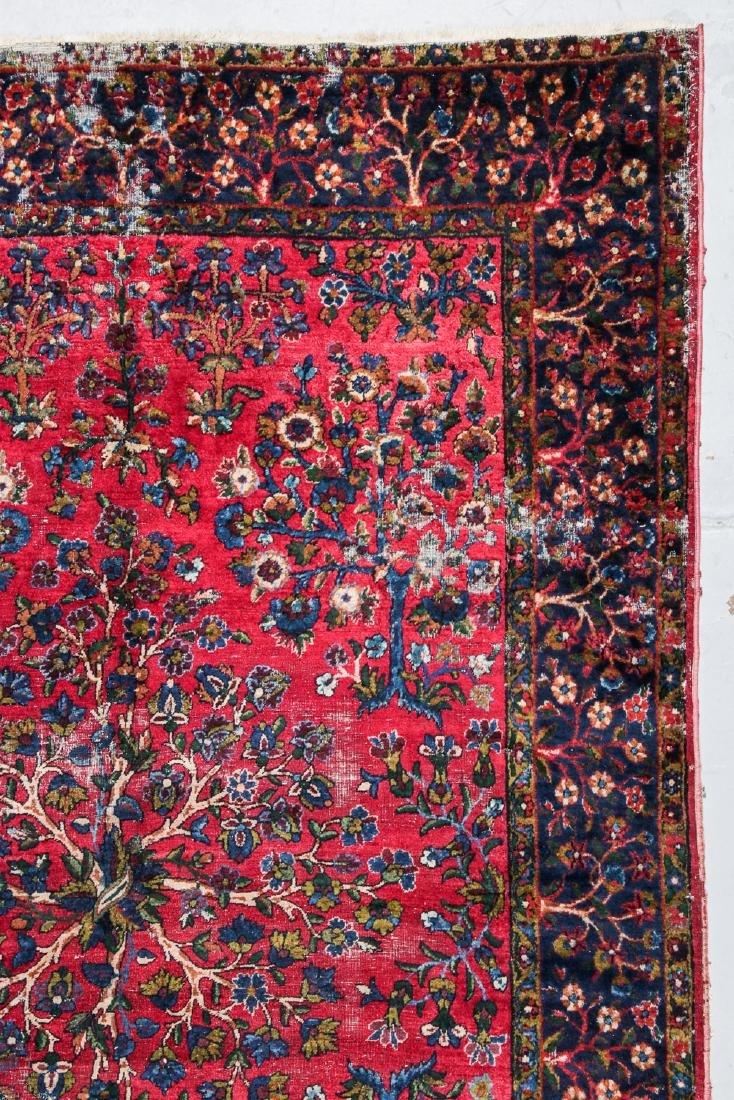 2 Antique Persian Kerman and Sarouk Rugs - 2