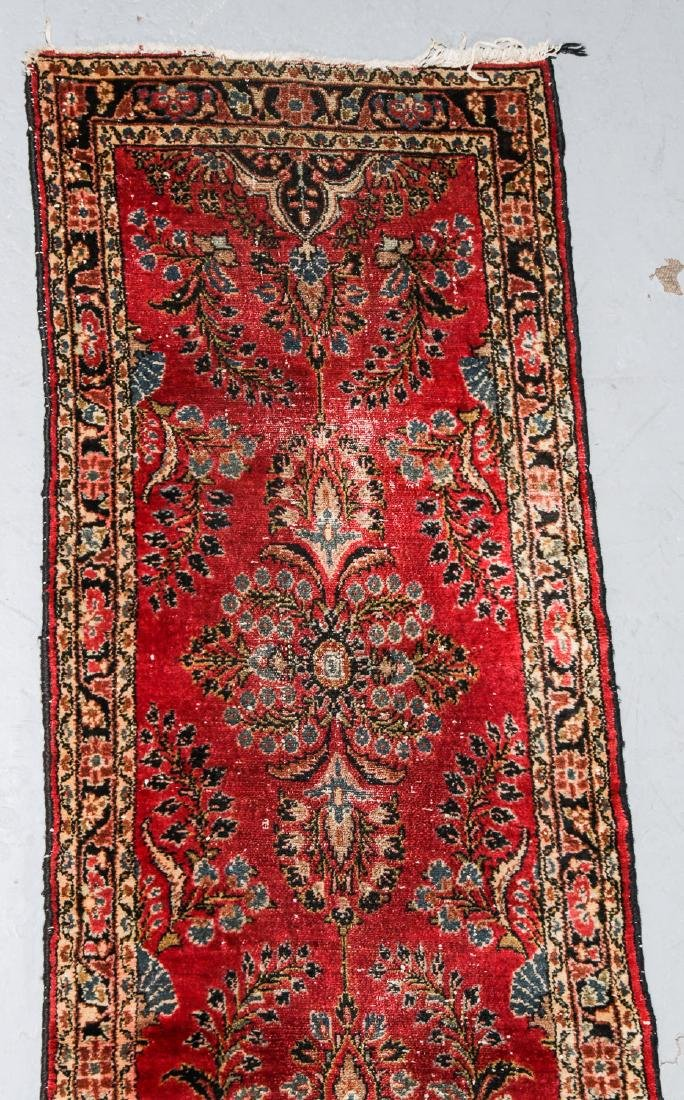 2 Antique Persian Kerman and Sarouk Rugs - 3