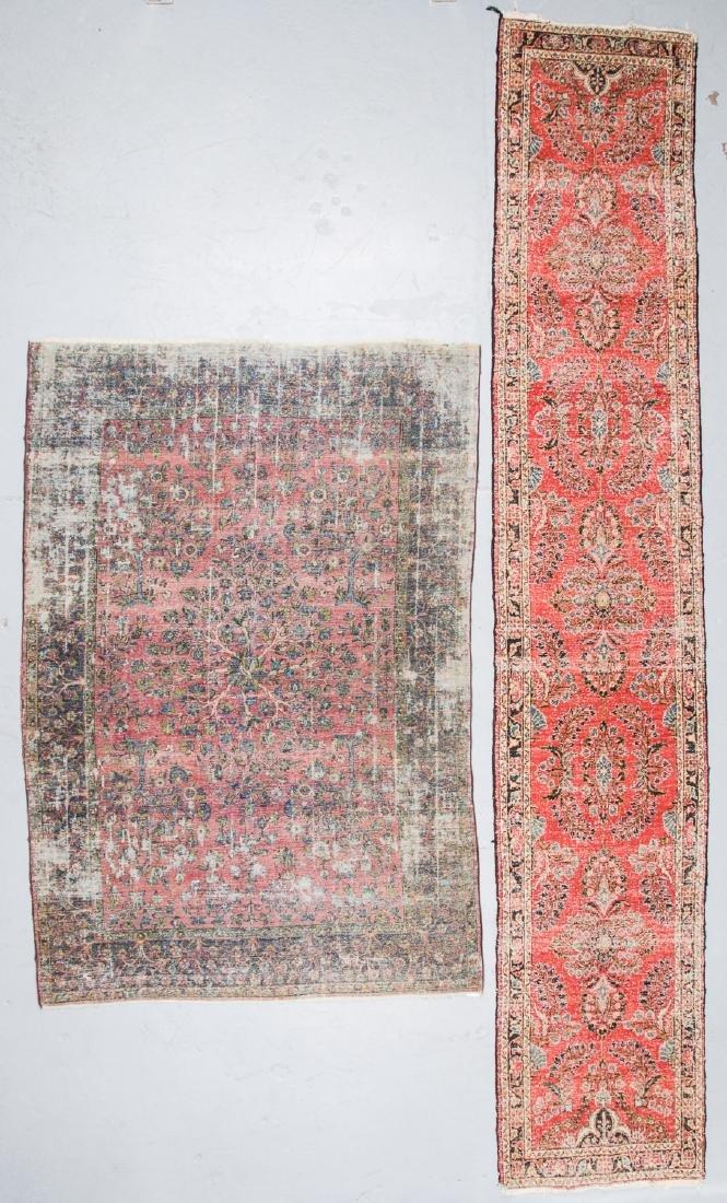 2 Antique Persian Kerman and Sarouk Rugs - 4