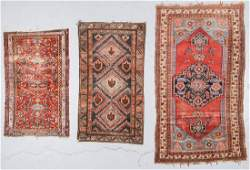 3 Antique West Persian Rugs