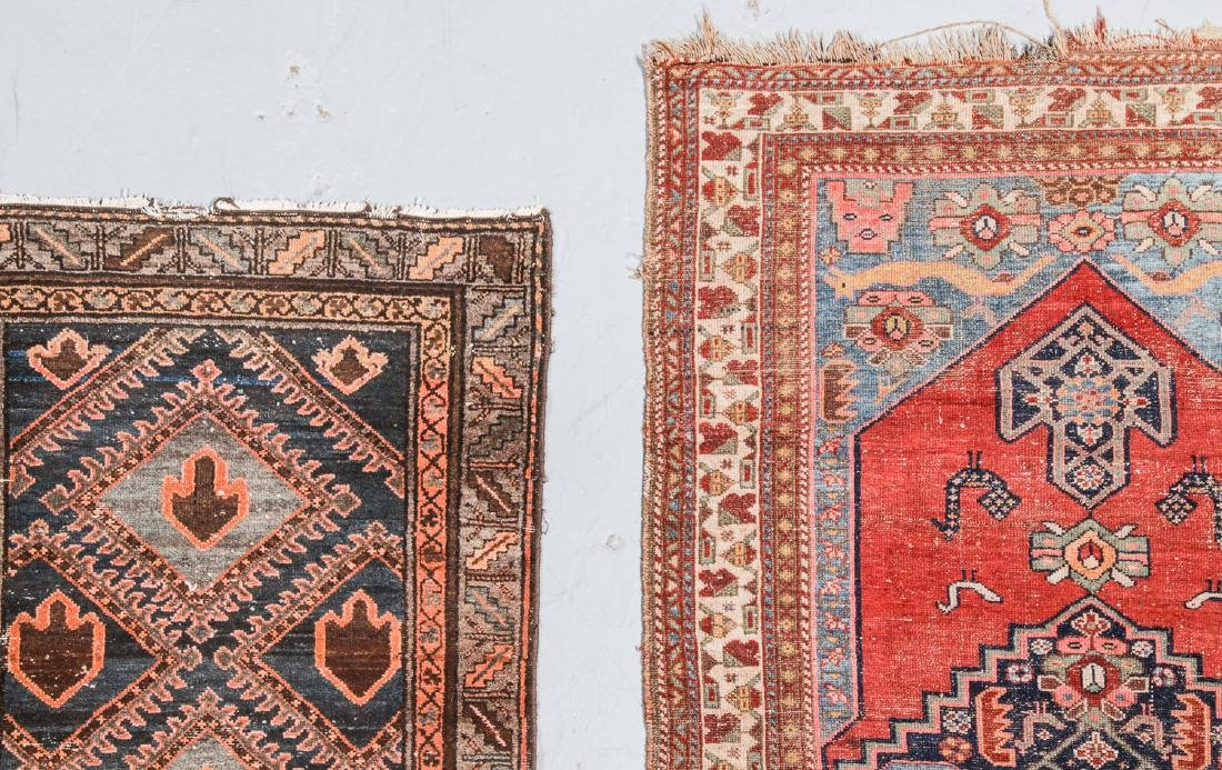 3 Antique West Persian Rugs - 2