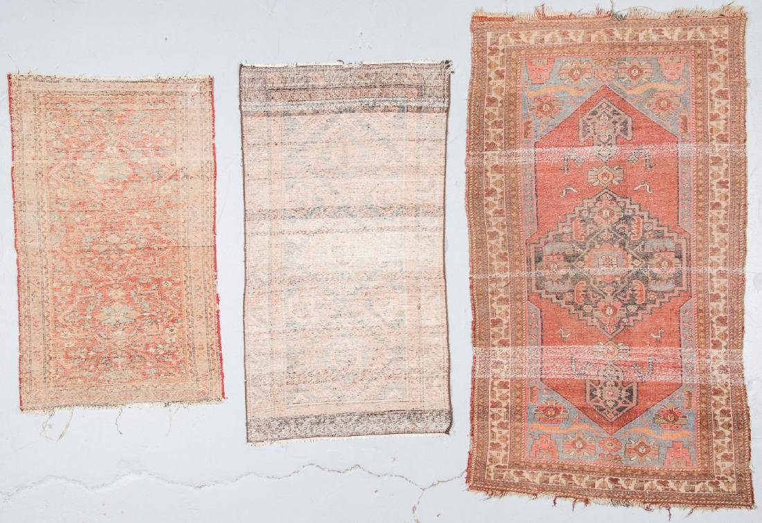 3 Antique West Persian Rugs - 4