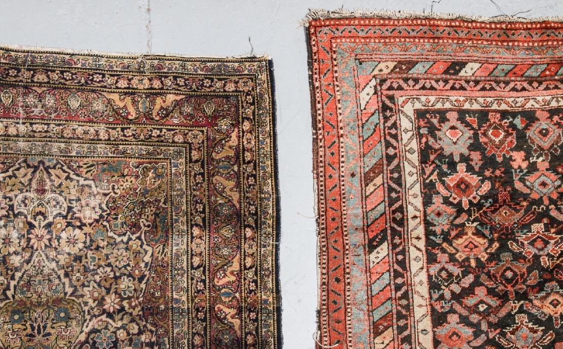 3 Antique Persian Lavar Kerman, Mahal and Kurd Rugs - 2