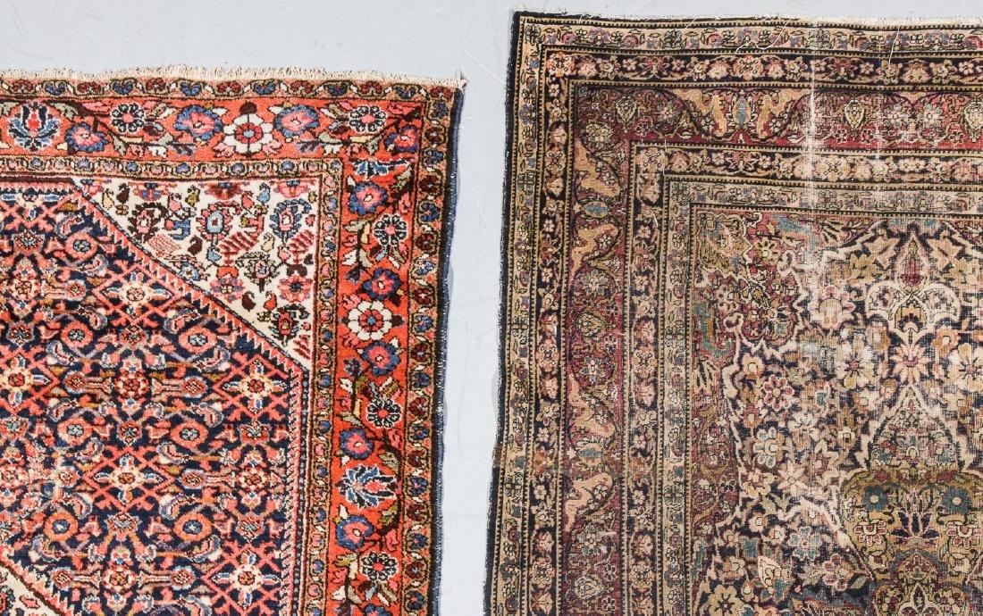 3 Antique Persian Lavar Kerman, Mahal and Kurd Rugs - 3
